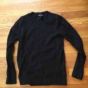 J crew black wool sweater